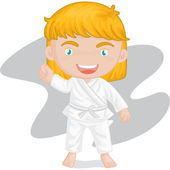 girl playing koong-foo-karate