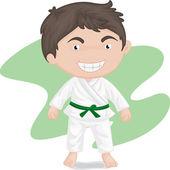 boy playing koong-foo-karate