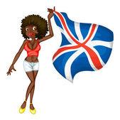 British flag girl