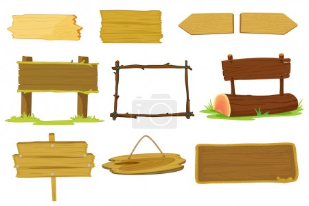 Illustration for Illustration of signs and banners on white - Royalty Free Image