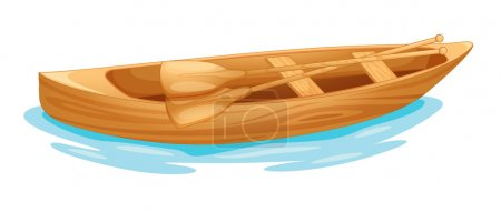 Illustration for Open Canadian canoe on water - Royalty Free Image