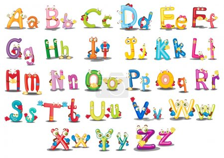Illustration for Illustration of Alphabet characters on white - Royalty Free Image