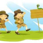 Постер, плакат: Boy and girl scout