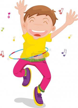 boy singing and dancing