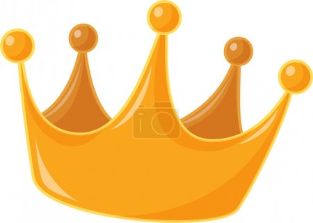 Illustration pour Une illustration d'une couronne royale - image libre de droit