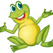 Illustration of a frog cartoon character...