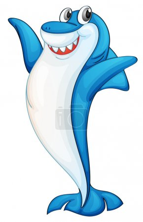 Illustration for Illustration of a blue and white shark - Royalty Free Image
