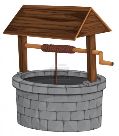 Illustration of an isolated well...