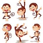 Illustraiton of comical monkey series...