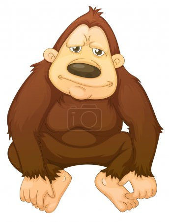 Illustration for Illustration of a gorilla on white - Royalty Free Image