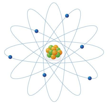 Illustration for Illustration of atom structure on white - Royalty Free Image