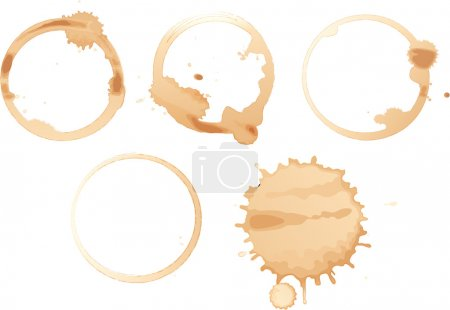 Illustration for Illustration of coffee stains on white - Royalty Free Image