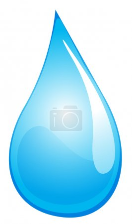 Illustration for Illustration of a drop of water - Royalty Free Image