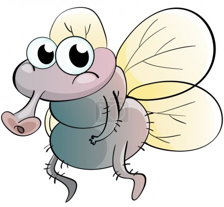 Illustration for Illustration of a cartoon fly - Royalty Free Image