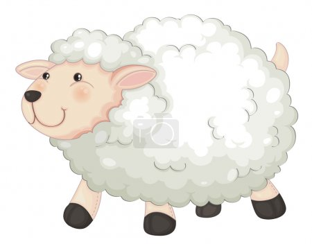 Illustration for Illustration of a sheep on a white background - Royalty Free Image