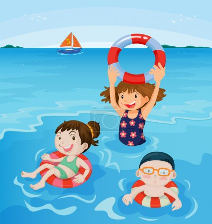 Photo for Kids playing at the beach - Royalty Free Image