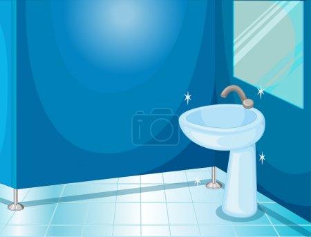 Illustration pour Illustration d'une salle de bain sur blanc - image libre de droit