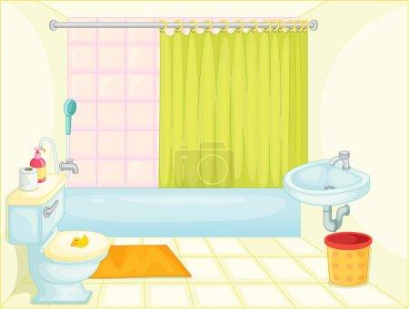 Illustration pour Illustration de salle de bain sur blanc - image libre de droit