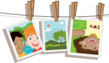 Ilustración de Ilustración de fotos en blanco - Imagen libre de derechos