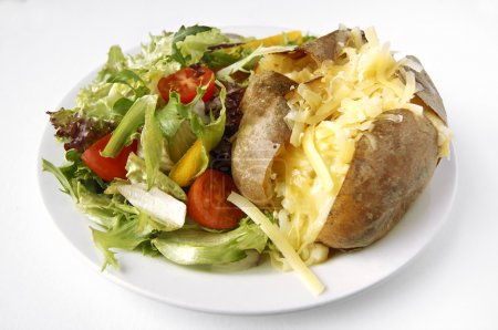 Cheese Jacket Potato with side salad