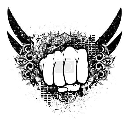 Urban emblem with fist