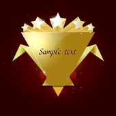 5 stars rated gold shape template
