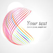 Abstract colorful lines background Shape EPS 10