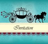Invitation card with carriage & horse ver 1