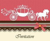 Invitation card with carriage & horse ver 2