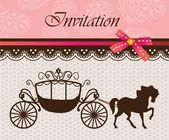 Invitation card with carriage & horse ver 4