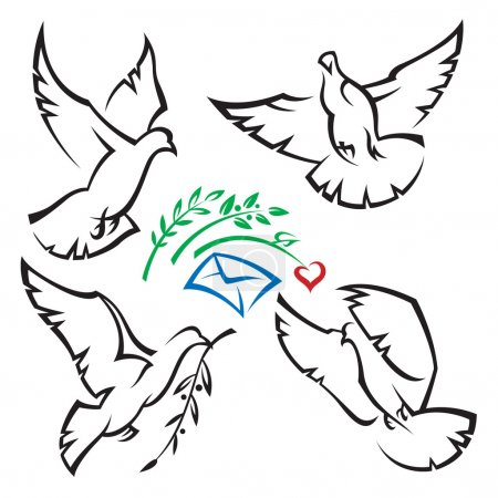 Set of pigeons