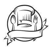 Kuchař klobouk s lžící a vidličkou