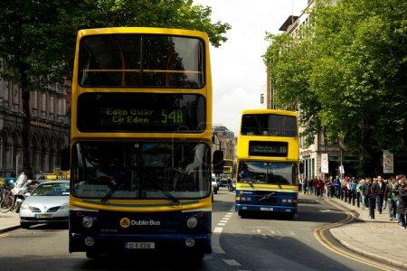 Dublin street with bus
