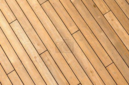 Photo pour Diagonal navire en bois Deck fond avec spac gratuit pour le texte - image libre de droit