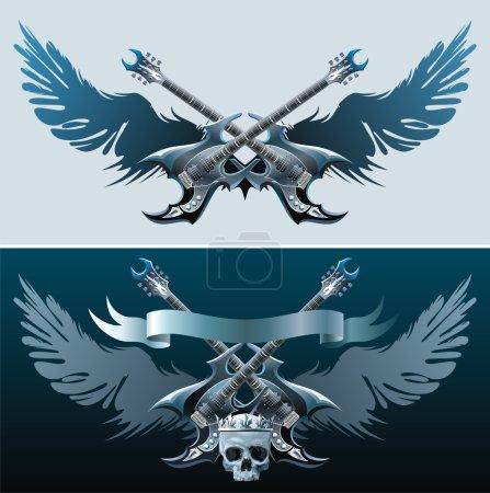 Heavy rock symbols.