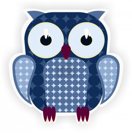 Cartoon blue owl.