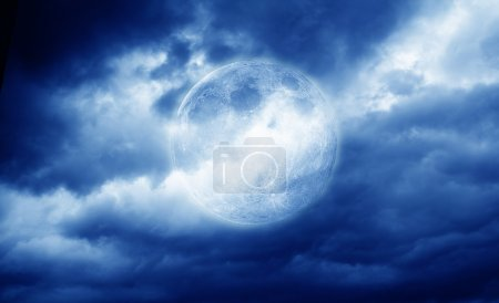 Photo for Full moon on clouding sky - Royalty Free Image