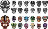 Super hero heads set 2