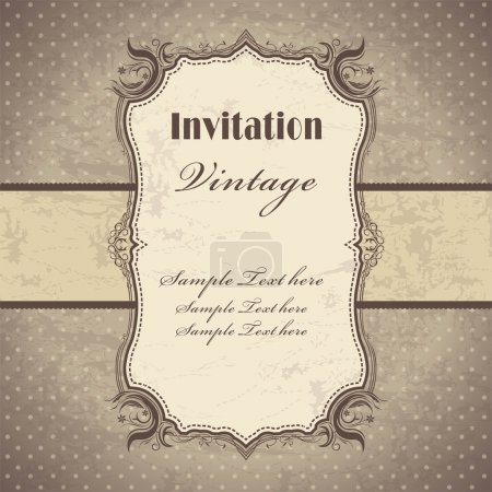 Illustration for Vintage frame template design - Royalty Free Image