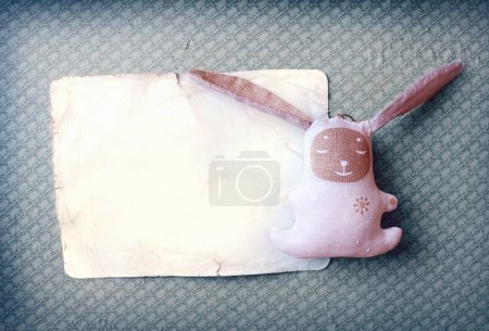 Photo for Vintage foto with the bunny - Royalty Free Image