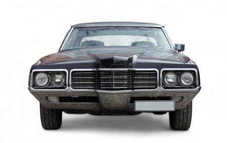 Photo for Old car front view against white background - Royalty Free Image