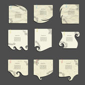 Creative modern vector note paper style