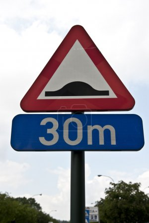 Photo for Belgium Mileage Sign - Royalty Free Image