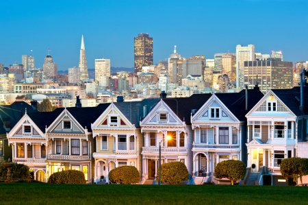 Photo for This image shows the painted ladies of Alamo Square - San Francisco, USA - Royalty Free Image