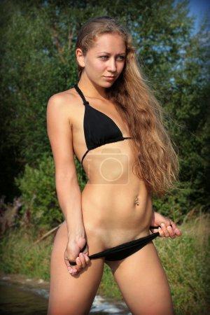 Young sexy girl in bikini