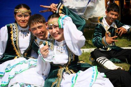 Tatar girls and boys