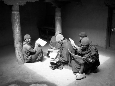 Monks learning
