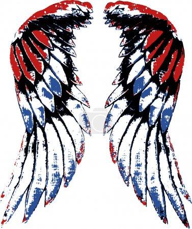 Illustration pour Illustration aile d'oiseau - image libre de droit