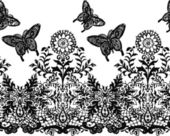 Seamless butterfly and flower pattern