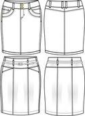 Pencil skirt illustration